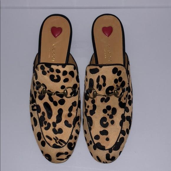 053ead224aa0 Gucci Shoes | Princetown Leopard Calf Hair Slipper | Poshmark